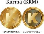 set of physical golden coin... | Shutterstock .eps vector #1024949467