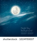 night sky background with... | Shutterstock .eps vector #1024950037