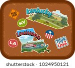 kentucky  louisiana travel... | Shutterstock .eps vector #1024950121