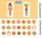 set of flat vector icons for... | Shutterstock .eps vector #1024950709