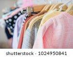 children's cloth rack ... | Shutterstock . vector #1024950841
