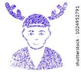 grunge horned boyfriend rubber... | Shutterstock .eps vector #1024952791