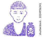 grunge toxic dealer rubber seal ... | Shutterstock .eps vector #1024956241