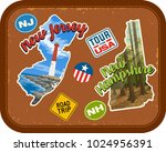 new jersey  new hampshire... | Shutterstock .eps vector #1024956391