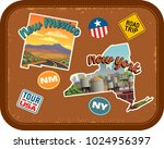 new mexico  new york travel... | Shutterstock .eps vector #1024956397