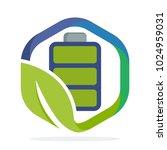 a hexagon shape logo icon with... | Shutterstock .eps vector #1024959031