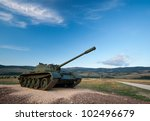 exhibited a tank t 55 | Shutterstock . vector #102496679