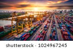 logistics and transportation of ... | Shutterstock . vector #1024967245