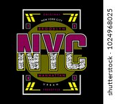nyc typography t shirt design ... | Shutterstock .eps vector #1024968025