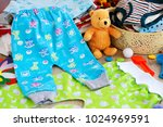 clothes for babies in the form... | Shutterstock . vector #1024969591