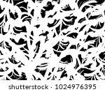 brush stroke pattern.... | Shutterstock .eps vector #1024976395