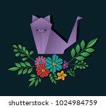 wild life digital crafts in... | Shutterstock .eps vector #1024984759