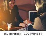 business people on meeting... | Shutterstock . vector #1024984864