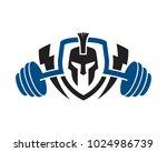 warrior fitness gym logo... | Shutterstock .eps vector #1024986739