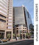 Small photo of PHOENIX, AZ - FEBRUARY 2, 2018: Crossroad at Double Triple Zero, Central Avenue and Washington Street, marking absolute center in Phoenix downtown of Arizona capital city