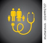 yellow family doctor icon on... | Shutterstock .eps vector #1024992727