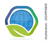 icon hexagon shape logo with... | Shutterstock .eps vector #1024994845