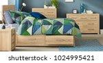 bedroom interior room | Shutterstock . vector #1024995421