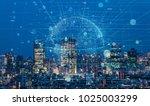 modern cityscape and... | Shutterstock . vector #1025003299