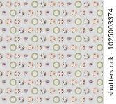 a  seamless pattern made of... | Shutterstock . vector #1025003374