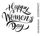 happy women's day greeting... | Shutterstock .eps vector #1025004427