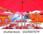 umbrella background   texture | Shutterstock . vector #1025007079