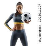 ready to play. soccer player... | Shutterstock . vector #1025011207