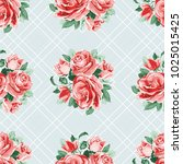 seamless floral pattern with... | Shutterstock .eps vector #1025015425