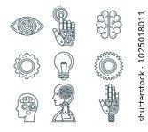 artificial intelligence... | Shutterstock .eps vector #1025018011
