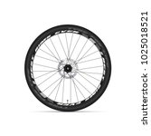 mountain bicycle wheel. 3d... | Shutterstock .eps vector #1025018521