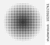 halftone circle pattern. half... | Shutterstock .eps vector #1025021761