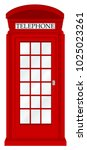 england telephone booth on a... | Shutterstock .eps vector #1025023261