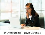 business woman standing working ... | Shutterstock . vector #1025024587