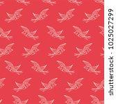 seamless love birds pattern | Shutterstock .eps vector #1025027299