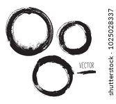 set of hand drawn circles ... | Shutterstock .eps vector #1025028337