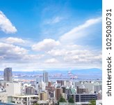cityscapes of kobe city with... | Shutterstock . vector #1025030731