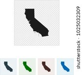 map of california | Shutterstock .eps vector #1025032309