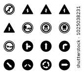 solid vector icon set   no... | Shutterstock .eps vector #1025038231