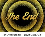 golden the end in retro style   Shutterstock .eps vector #1025038735