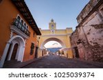 colonial architecture in... | Shutterstock . vector #1025039374