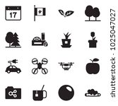 solid black vector icon set  ... | Shutterstock .eps vector #1025047027