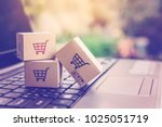 online shopping   ecommerce and ... | Shutterstock . vector #1025051719
