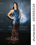 Small photo of Gina Rodriguez at the Los Angeles premiere of 'Annihilation' held at the Regency Village Theater in Westwood, USA on February 13, 2018.