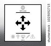 move symbol icon | Shutterstock .eps vector #1025052715