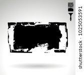 black brush stroke and texture. ... | Shutterstock .eps vector #1025053591