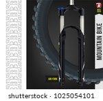 rear tire. mountain bike...   Shutterstock .eps vector #1025054101