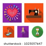 needle and thread  sewing... | Shutterstock .eps vector #1025057647