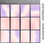 hologram background vector set. | Shutterstock .eps vector #1025061325