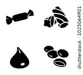 confectionery vector icons | Shutterstock .eps vector #1025064901