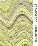 trendy curve lines wavy... | Shutterstock .eps vector #1025069125